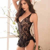 Lacey Plunging Babydoll