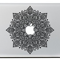"Vati Leaves Removable Lucky Flowers Cool Design Best Vinyl Decal Sticker Skin Art Black Perfect For Apple Macbook Pro Air Mac 11"" inch / Unibody 11 Inch Laptop"