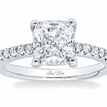 Square Pave Engagement Rings