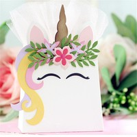 Long Hair Unicorn Set Metal Cutting Dies Stencil for DIY Scrapbooking Photo Paper Cards Making Decorative Crafts