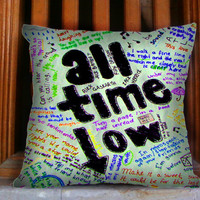 All Time Low Art Lyric Quote - Design for Pillow case