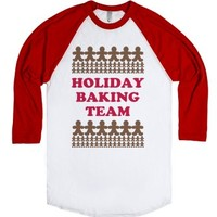 Holiday Baking Team-Unisex White/Red T-Shirt