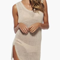 Sleeveless with Back Keyhole and Side Slit Cover-up