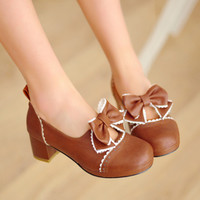 Sweet cute bow shoes