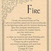 Fire Invocation Poster