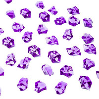 Acrylic Color Ice Rock Crystals Treasure Gems for Table Scatters, Vase Fillers, Event, Wedding, Arts & Crafts, Birthday Decoration Favor (190 Pieces) by Super Z Outlet® (Purple)