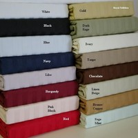 Twin XL damask Stripe 300 Thread count 100% Combed cotton Sheet sets