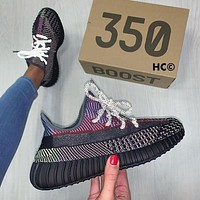 ADIDAS yeezy 350 v2 hot sale color matching men and women basketball shoes sports sneakers-12