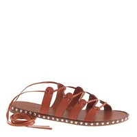 Studded lace-up gladiator sandals - sandals - Women - J.Crew