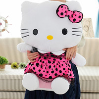 "30"" 75cm Pink Hot Pink Blue color Big Size Hello Kitty Plush Toys Finished Stuffed Soft Toys Factory Supply The Best Quality"