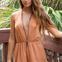 The Luxe Burnt Orange Romper