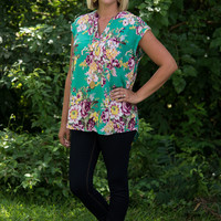 It's Simply Irresistible Floral Blouse - Green
