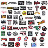 METAL PUNK ROCK BAND LOGO EMBROIDERED IRON ON PATCH MUSIC MEMORIAL
