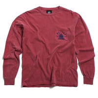 Queensboro Longsleeve Pocket T-Shirt Brick