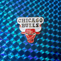 1988 BULLS Pin! Official NBA Limited Edition Collector Pin! Brass Enamel Shiny Glossy Rare! Vintage Retro Great Gift