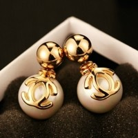 iOffer: high quality gold plated earrings never fade 2.7*1.0cm for sale