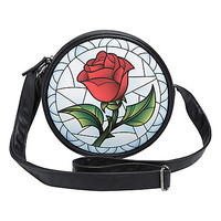 Disney Beauty And The Beast Stained Glass Rose Crossbody Bag