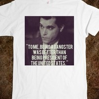 Gangster Photo Quote Tee - shine on