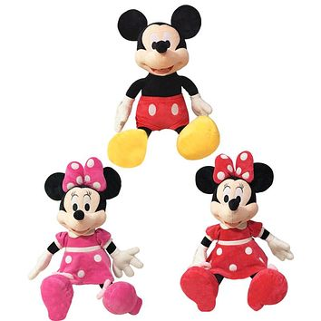 1pcs/lot 2016 hot saleHigh quality Mickey or minnie Mouse Plush Toy Doll for birthday Christmas gift Baby Sleep Toys