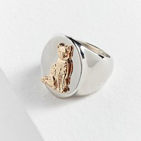 Cat Signet Ring   Urban Outfitters