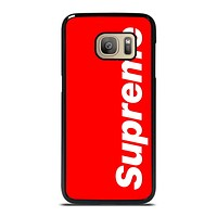 SUPREME RED LOGO Samsung Galaxy S7 Case