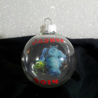 Monsters Inc Ornament - Mike and Sully - Personalized Ornament