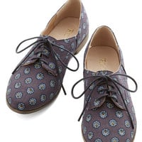 Restricted Menswear Inspired Step Rally Flat in Navy