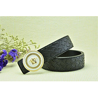 Gold Buckle With Free Black Leather Versace Woven Pattern Belt Brand New On Sale
