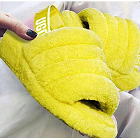 UGG Slippers Warm and fluffy New Women's Fashion Fluff Yeah Keep Warm Leisure Hight Quality Slipper Slide Shoes Boots 2
