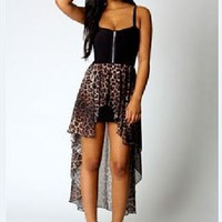 sexy Leopard Strapless dress-yellow from shoponline4