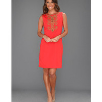 Ellen Tracy Sleeveless Bengalline With Embellishment Hot Coral - Zappos.com Free Shipping BOTH Ways