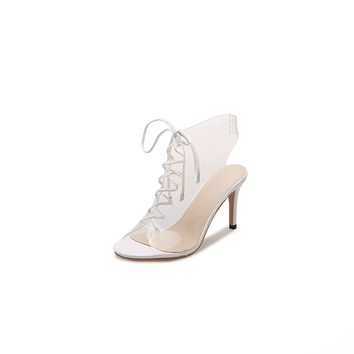 Women's High-heeled Transparent Stiletto Heel Sandals