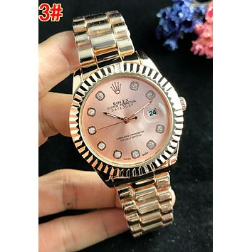 Rolex Newest Woman Men Fashionable Diamond Quartz Movement Wristwatch Watch 3#