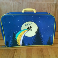 1980's Original E.T. & Me Jr. Suitcase by PartyOnSF on Etsy