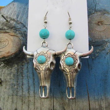 Steer Head Earrings