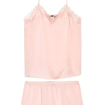 Pyjama top and shorts - Light pink - Ladies | H&M GB