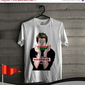 ON SALE Luke Hemmings 5SOS Cool T Shirt For Men and Women