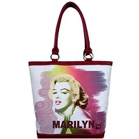 Licensed Marilyn Monroe White Bag