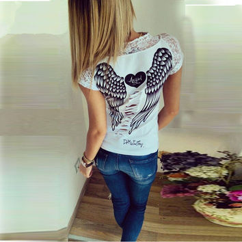 Angel Wings   T shirts
