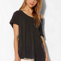 Truly Madly Deeply Boatneck Saturday Tee- Washed Black