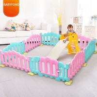 Single pannel children's Playpens Plastic  Railings Multi-graphic Playground Fun Park Freedom of choice  Multi-color  fence