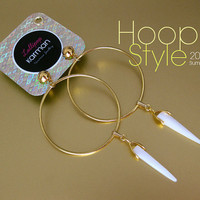 Hoop style decorative earrings with icicle shaped by KarmanJewelry