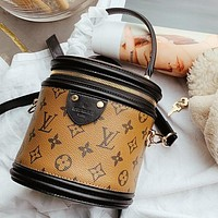 Louis Vuitton LV hot sale classic printed letter stitching women's bucket bag