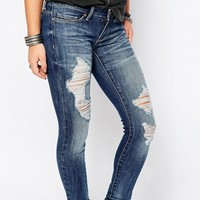 Noisy May Petite Eve Low Waisted Distressed Jean