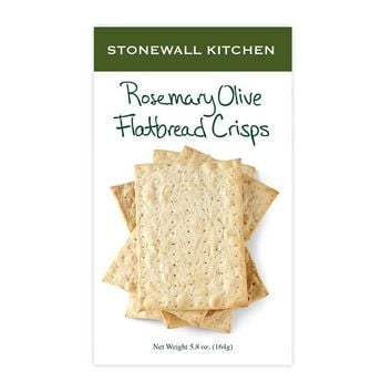 Stonewall Kitchen Rosemary Olive Flatbread Crisps, 5.8 oz (164g)