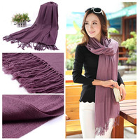 Winter Warm Wool Spinning Pashmina Shawl Wrap Stole Scarf  Wool Spinning for women