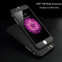 Full Body Coverage Phone Cases for iPhone 5 5s SE 6 6s 7 Plus Hard