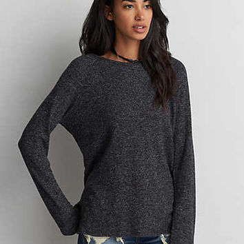 AEO Soft & Sexy Plush Crew, Charcoal
