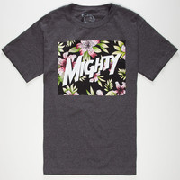 Mighty Healthy Spaced Mens T-Shirt Heather Black  In Sizes
