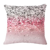 Glitter Gleam Boho Throw Pillow Cover